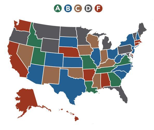 USA grade map