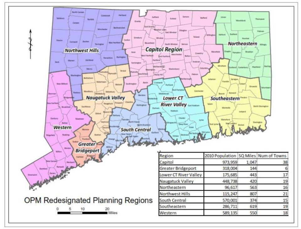 CT's Regional Planning Agencies Consolidate, Realign and ... on naugatuck state forest map, ct county map, beacon falls ct map, black rock ct map, lake ct map, shelton ct map, city of milford ct map, 1920 city of waterbury ct map,