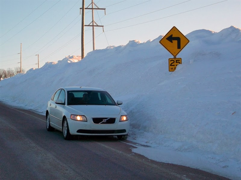 Snow Banks - car