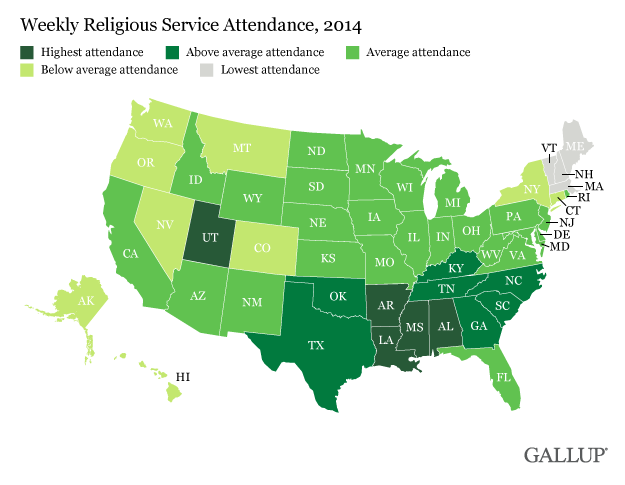 religious services map