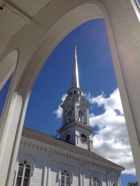 framed church Lee, MA