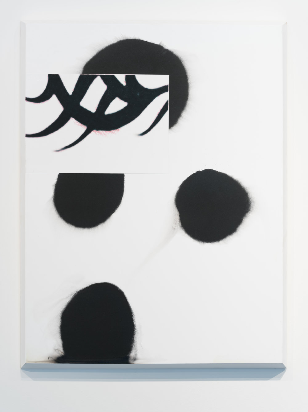 Archive110_dude_perfect , 2017  Gesso, acrylic, pigment transfer, plywood  31 x 23 in.