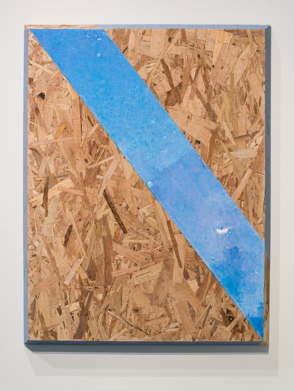 81319_submitter_file1 (ufo) , 2017  Gesso, acrylic, pigment transfer, oriented strand board  31 x 23 in.