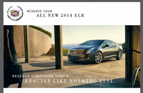 2014 Cadillac ELR Reservation E-Mail