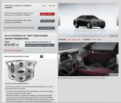 2014 Cadillac CTS Configurator