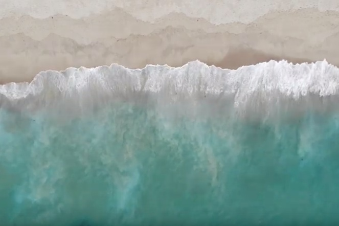Homepage Video - Waves from above 3 by John Freeberg on Youtube