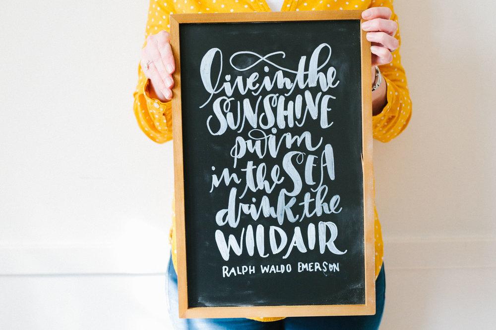 DIY Seasonal Chalk Art | Hoopla! Letters