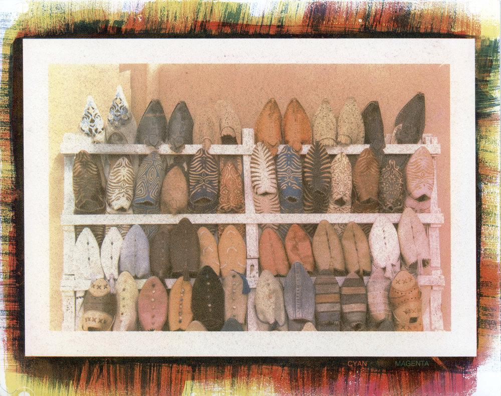 Moroccan Shoes_Tri-Color Gum Bichromate.jpg