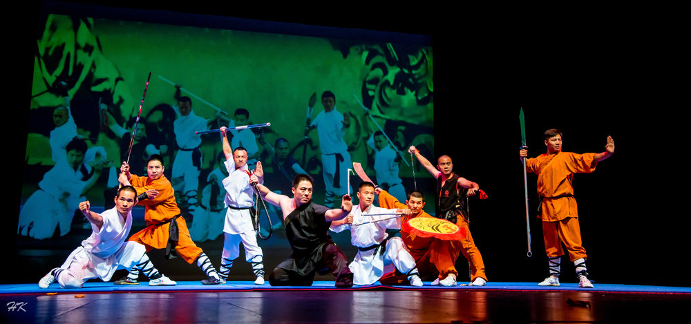Master Zhou with his Shaolin Brothers at the 6 years anniversary of SSKA 2017