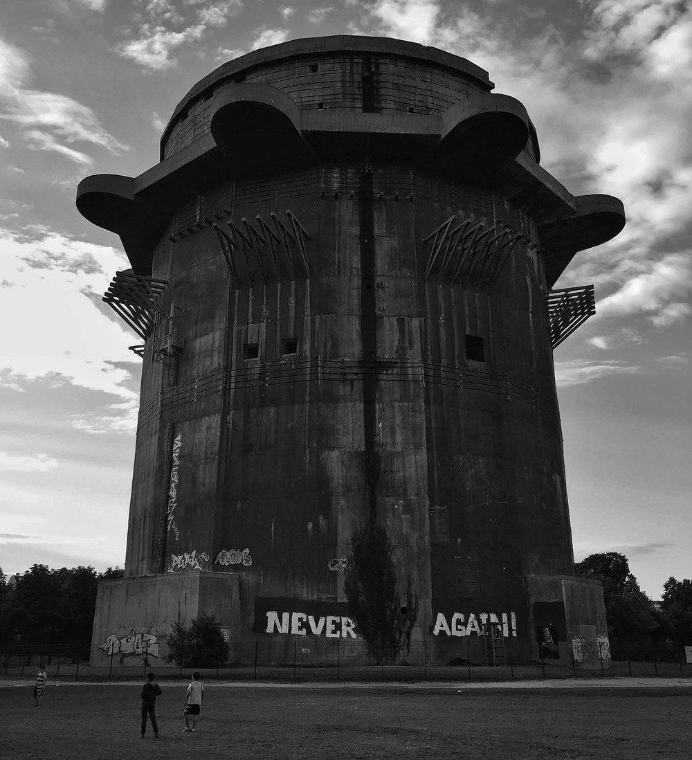 Tour de Flak dans le parc Augarten à Vienne