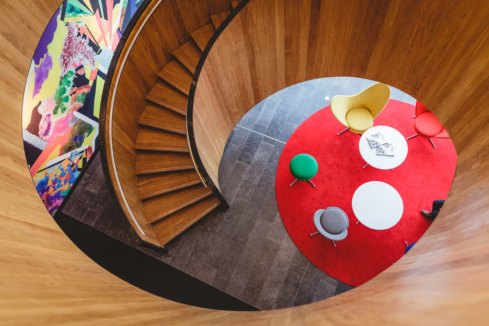 Citizen-m hotel staircase - Located in Shoreditch, London, UK.