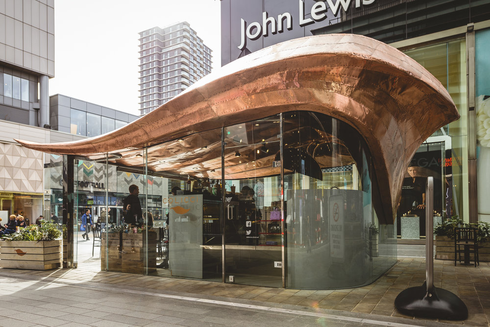 Colicci Coffee shop - It's located in Westfield Shopping Mall, Stratford City, London, United Kingdom.