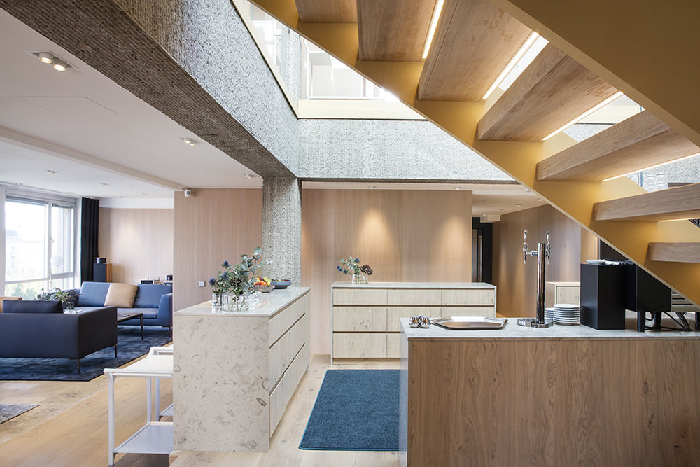 Hamilton Law Firm - Straight Freestanding Stairs in Stockholm, Sweden.