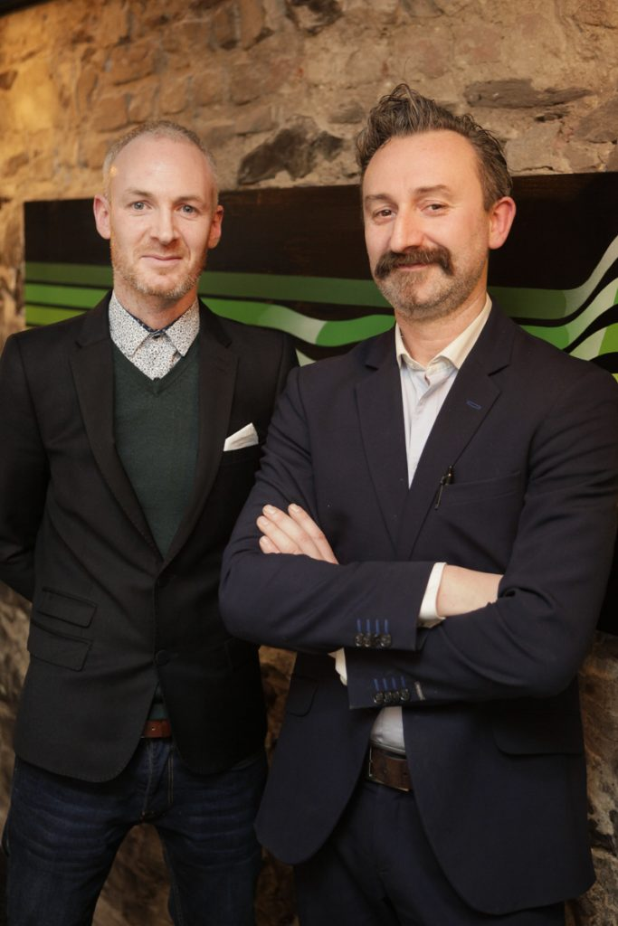 Co-owners Brian Deery and Giovanni Viscardi at launch night of Bagots Hutton Restaurant at 6 Upper Ormond Quay,Dublin