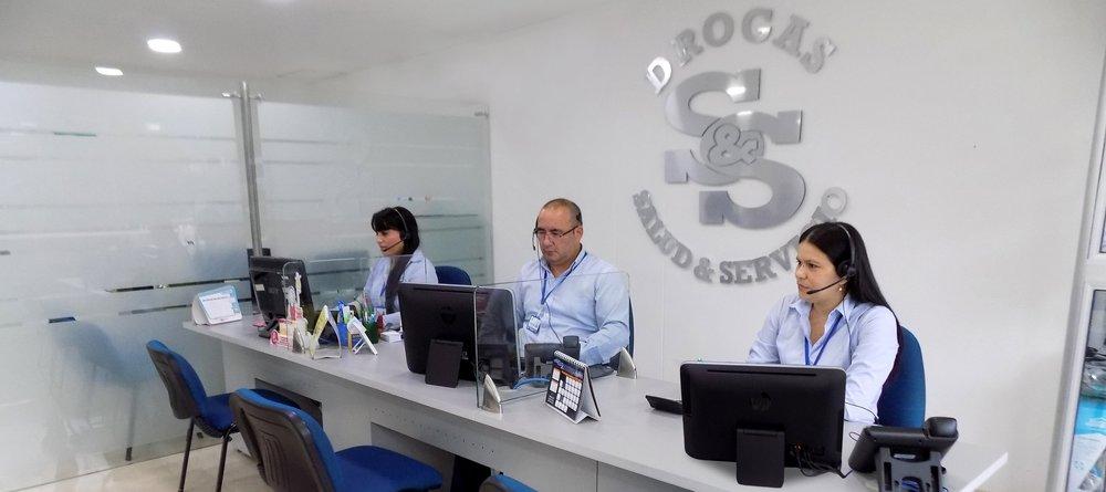 Sala de ventas, ubicada en las oficinas principales.