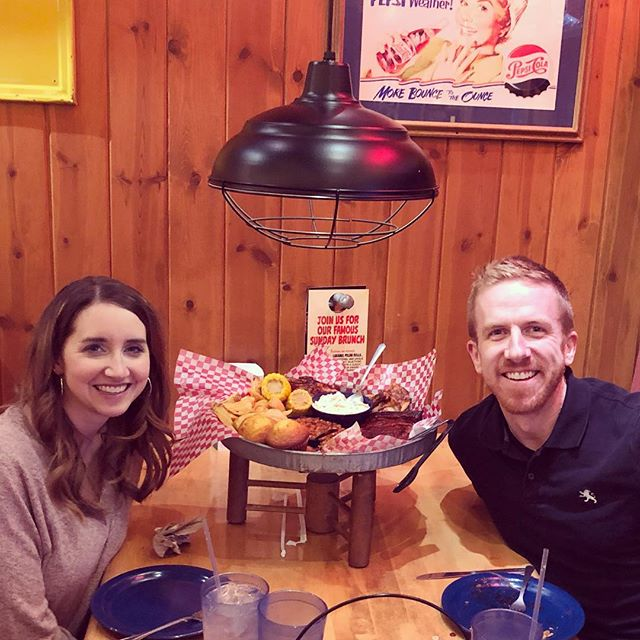 Date night. 😎 /// We ordered a little bit of food... #famousdaves
