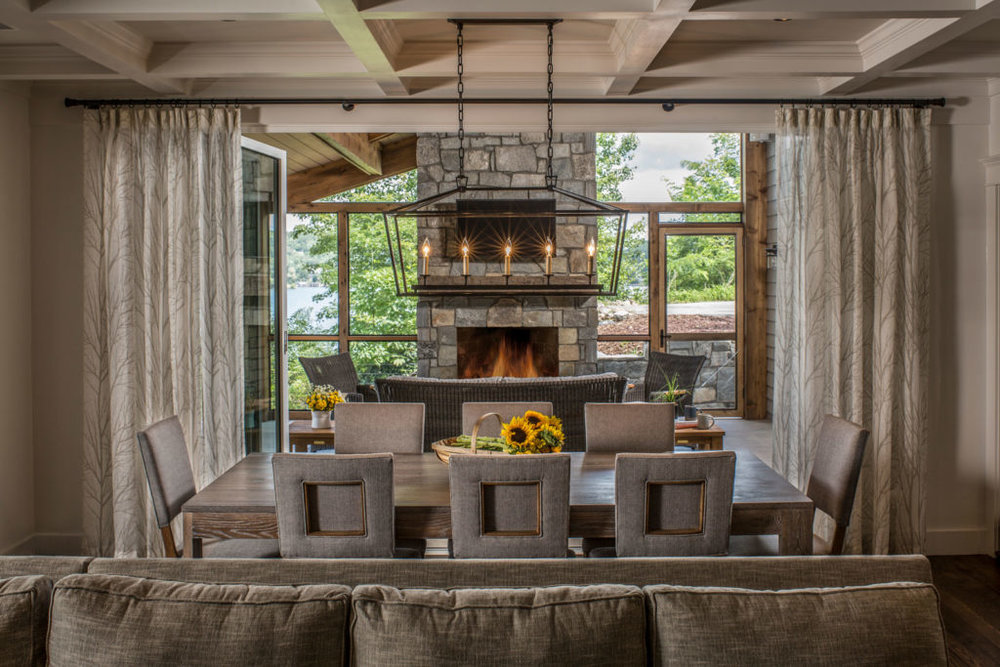 Views flows through the living room, dining room and out to the outdoor living space.
