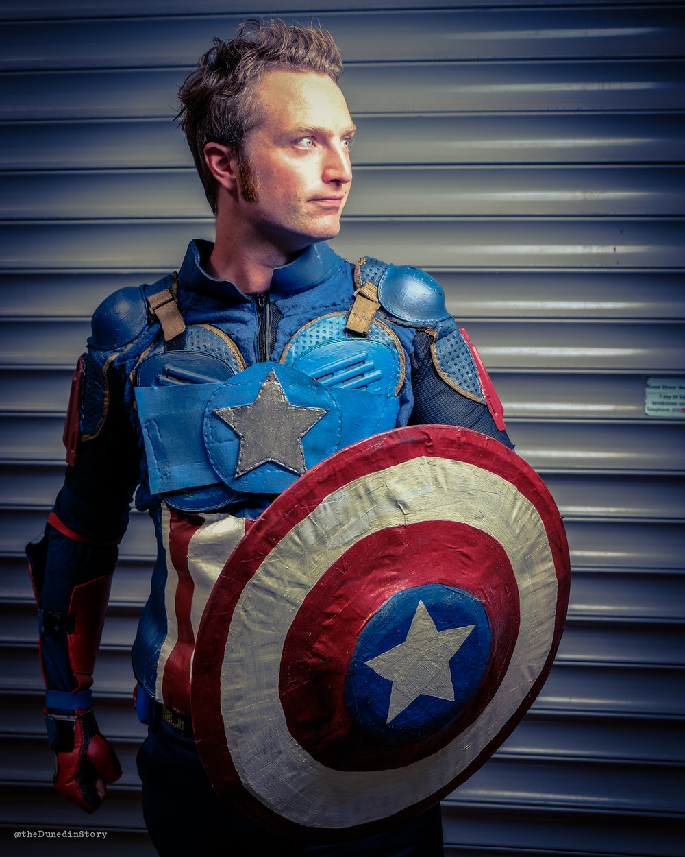 Will cosplays as Captain America