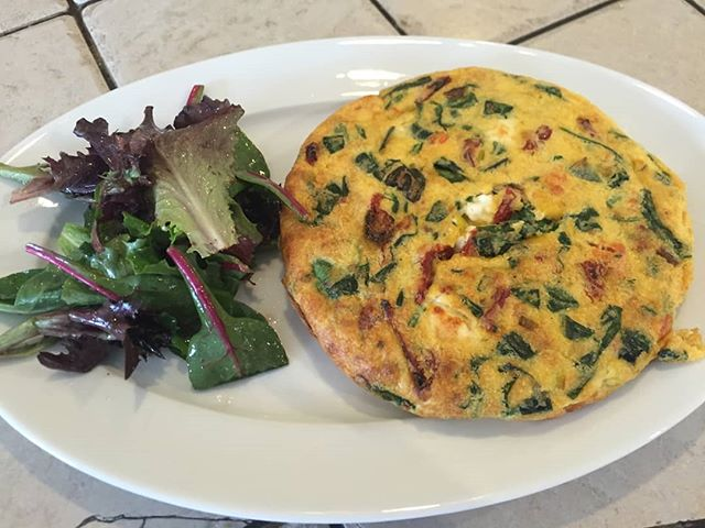 Frittatas at Canal Bistro are the perfect dish to get your Sunday morning off to a great start! Stop in this morning for this beauty & pair it with a $5 Bloody Mary! 🍽️ #eathereindy #indyeats #canalbistro #eatlocalindy #brunchgoals #frittata #mediterraneanfood