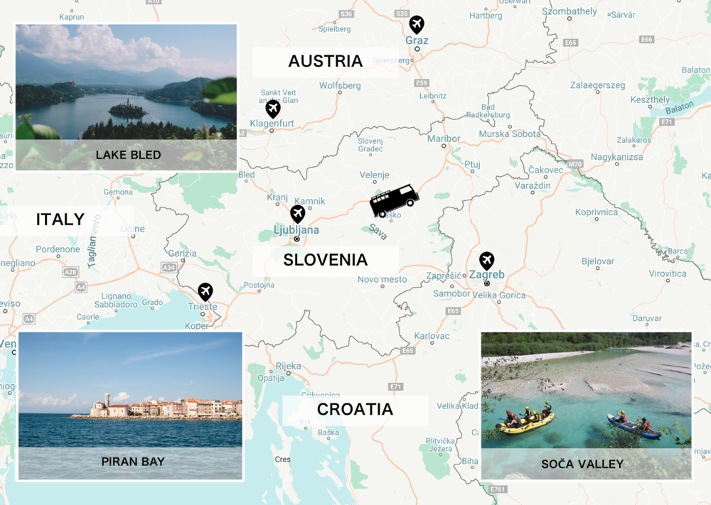FREEDOM ON WHEELS - With Vanvoyage campers, you can visit Slovenia's top destinations at your own time and stay at each, for as long as you decide.A SINGLE BOOKING FORUNLIMITED DESTINATIONS 🚌You can even jump over to Italy or Croatia, everything is close yet there is so much to explore! 🏕