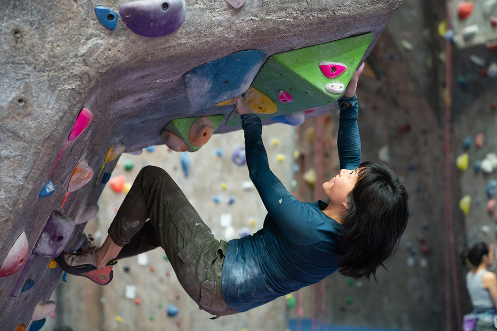 bouldering - A movement-focused style of climbing. No experience, rope, or partner required. The biggest challenge is not getting hooked. Check out ourIntro to Boulderingclass to get an intro.