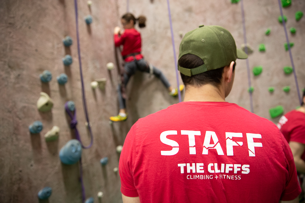 private belay - Have 8 or fewer climbers? Schedule a private staff member to belay for you and your group at whatever time you like. Call the gym to schedule!