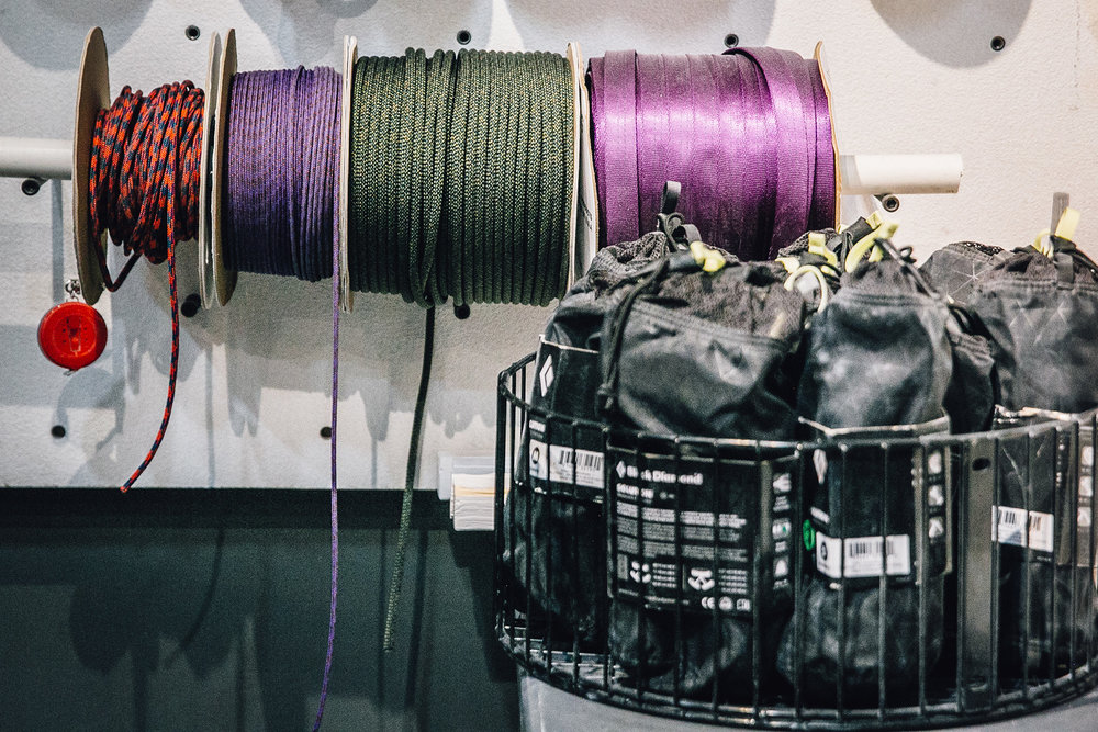 rope - Fresh cords to keep you off the ground.