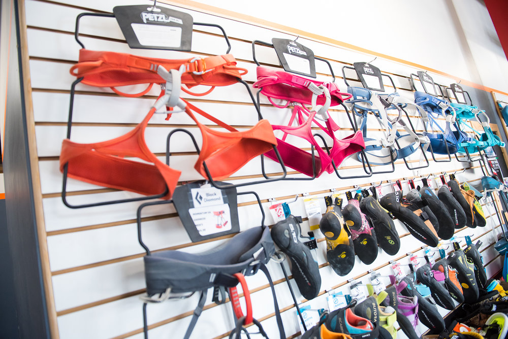 rental gear - Your climbing shoes, harness + chalk are included!