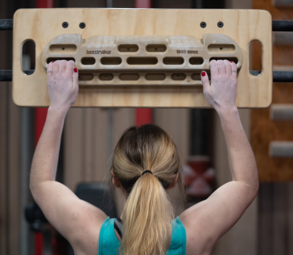 HANGBOARDS + CAMPUS BOARDS - Build finger strength and power with these classic climbing training tools.