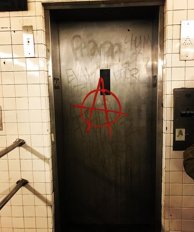NYC 1979? Nope. NYC 2019. #anarchy