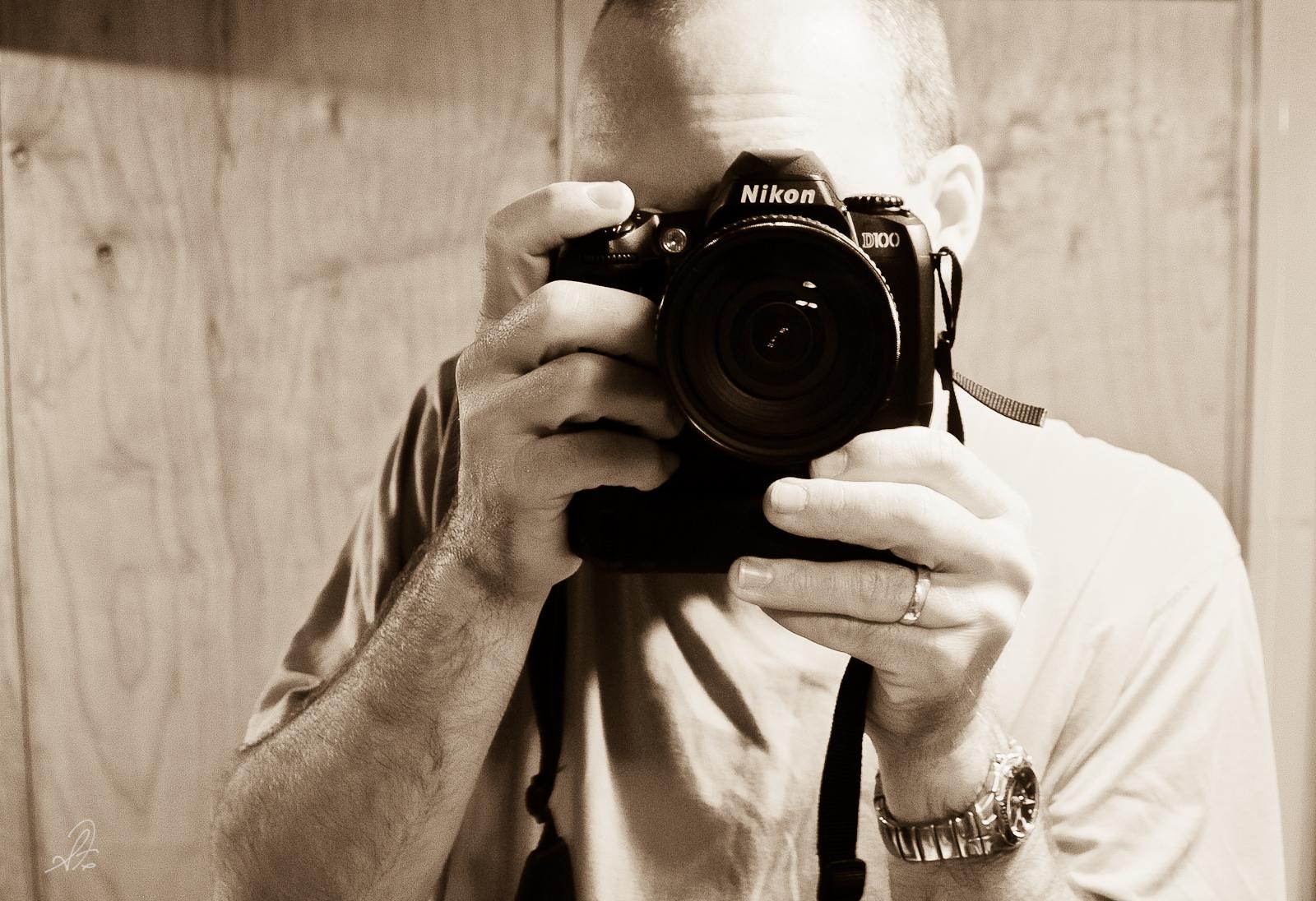 Self Portrait of My First Nikon D100 DSLR Camera