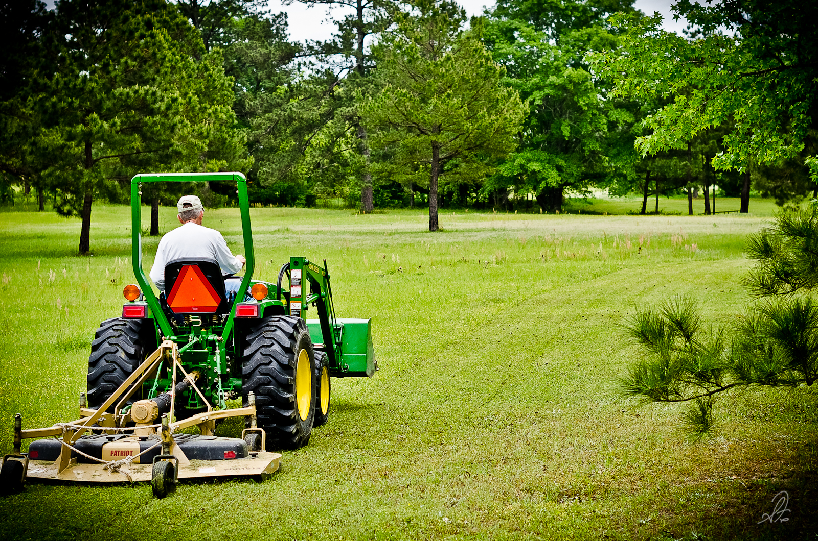 Cutting the Pasture on the John Deere Tractor