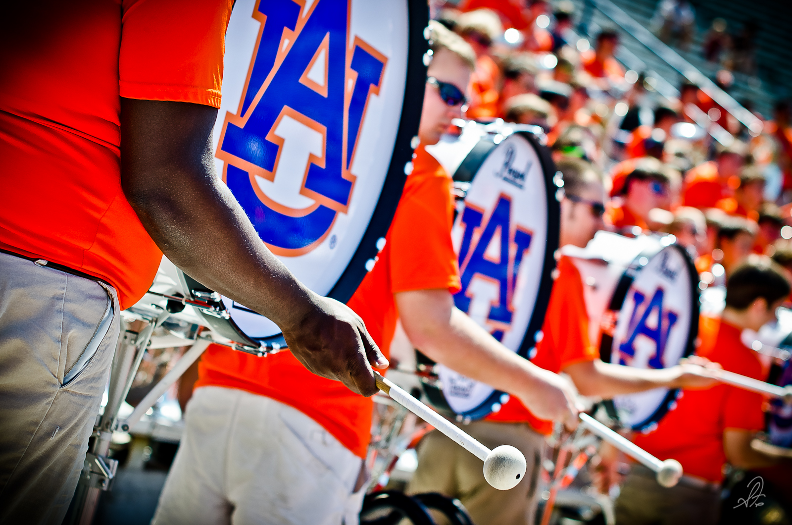 Auburn Tigers Aday Game 2012 Marching Band Drums