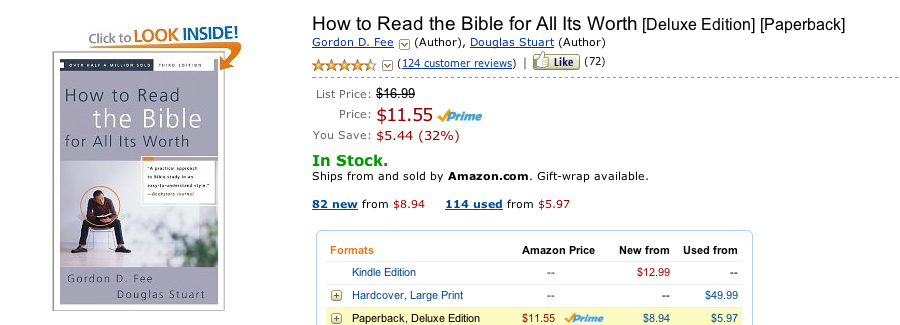How to Read the Bible for All Its Worth Book Review Critique