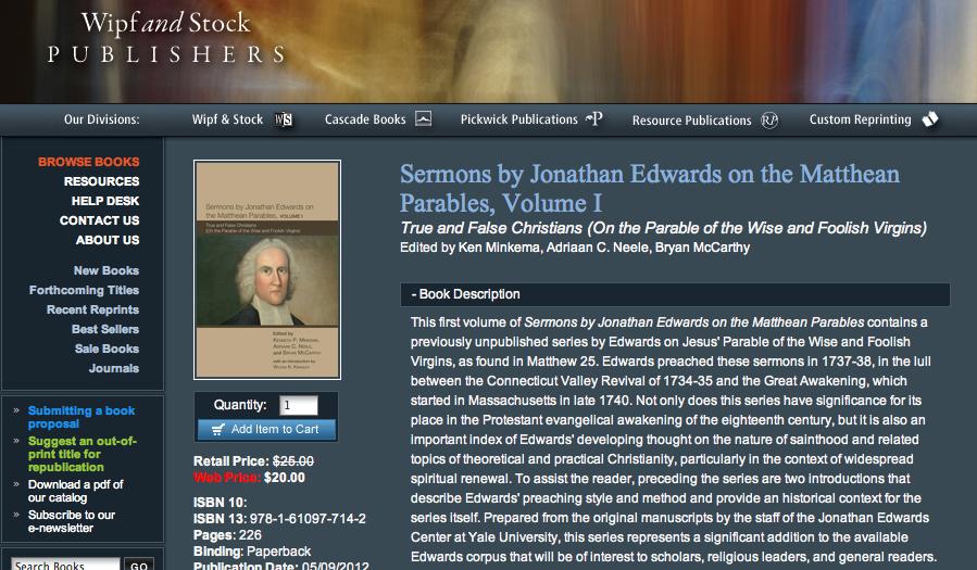 Edwards Sermons Publication