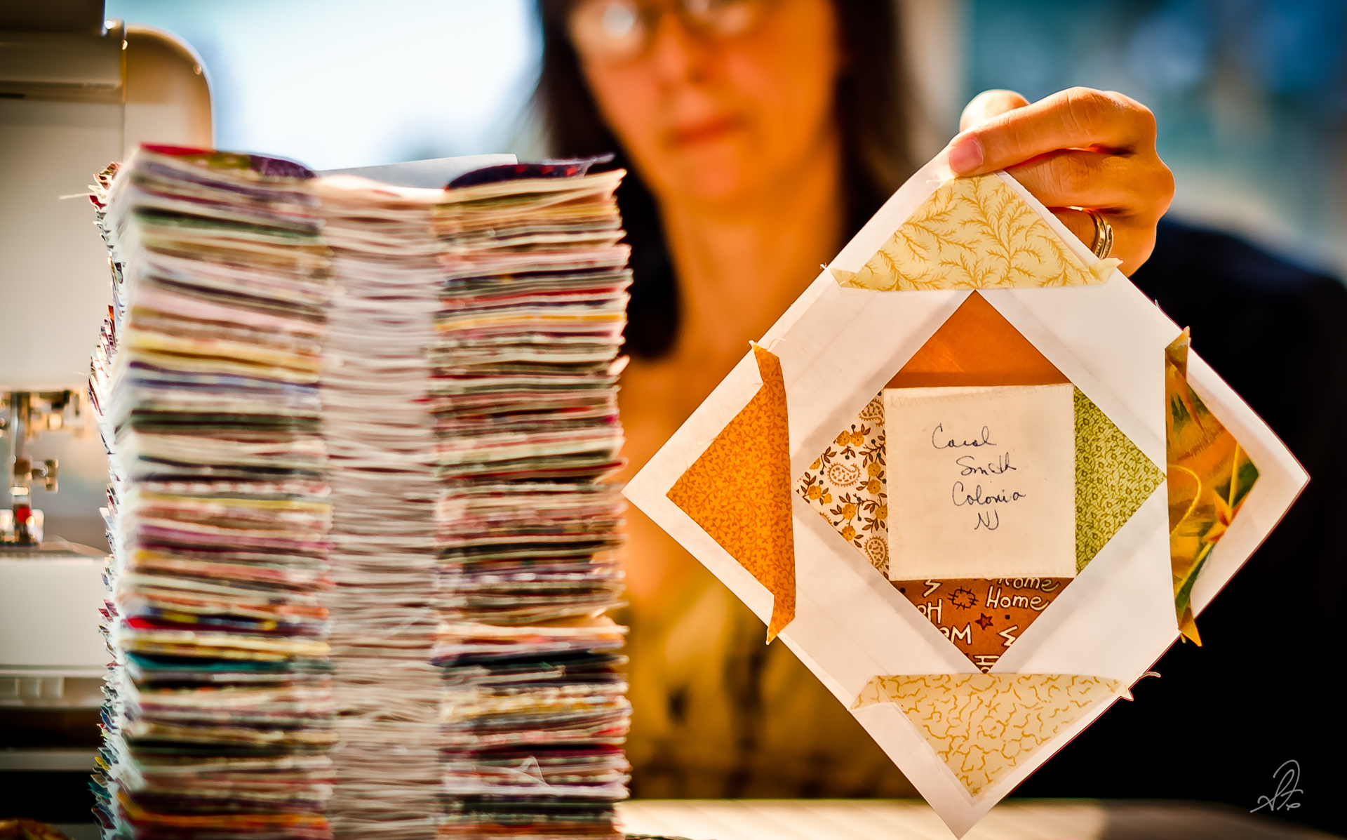 Project 365 [Day 218] Deborah Finishes the 144th Quilt Block
