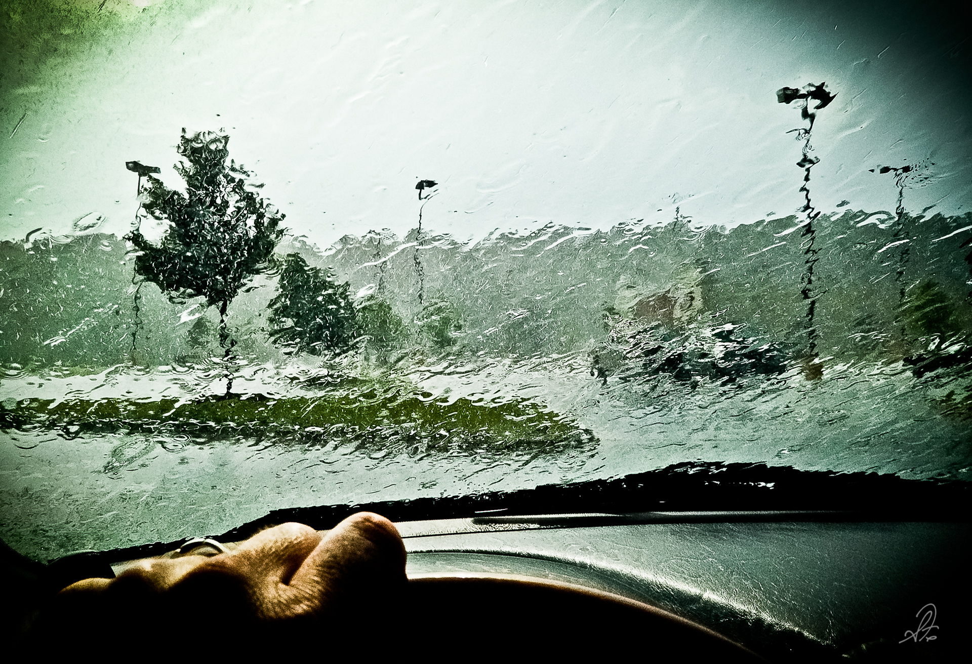 Project 365 [Day 199] Waiting for the Rain in the Parking Lot