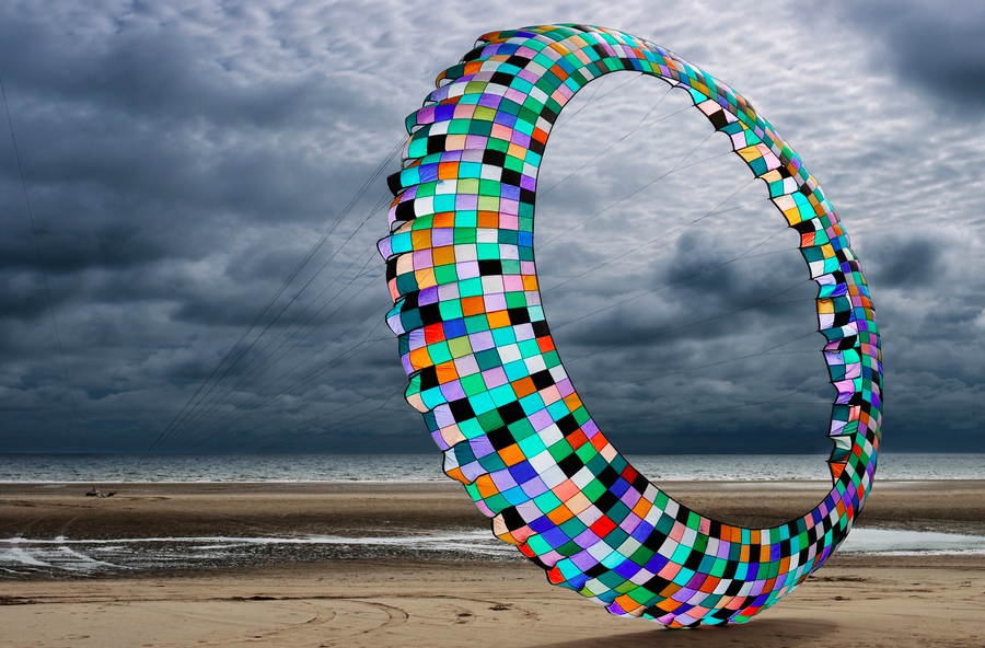 15' Kite At Annual Kite Festival in Blackpool (UK) by David Nightingale