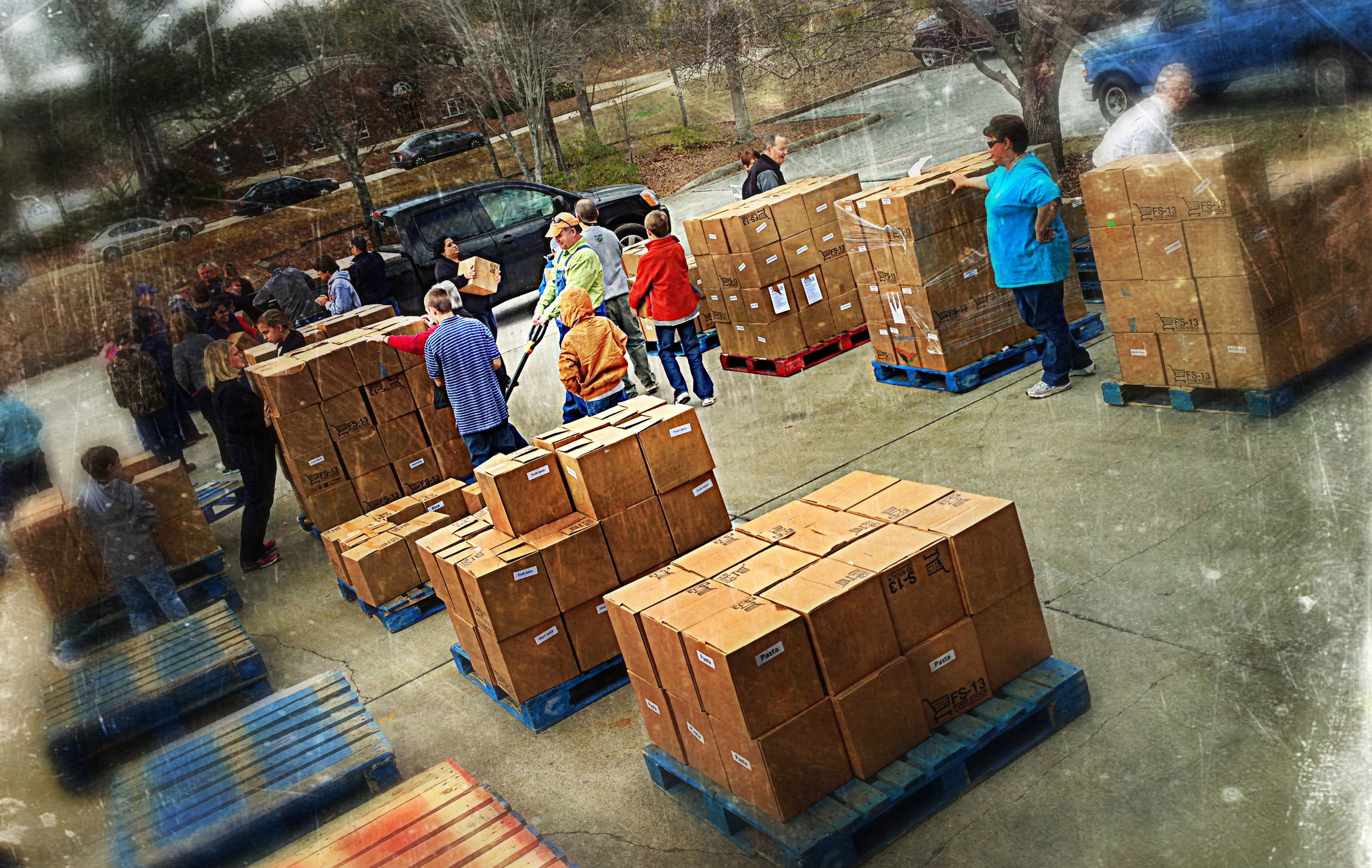Cornerstone and East Alabama Food Bank Food Drop 2013