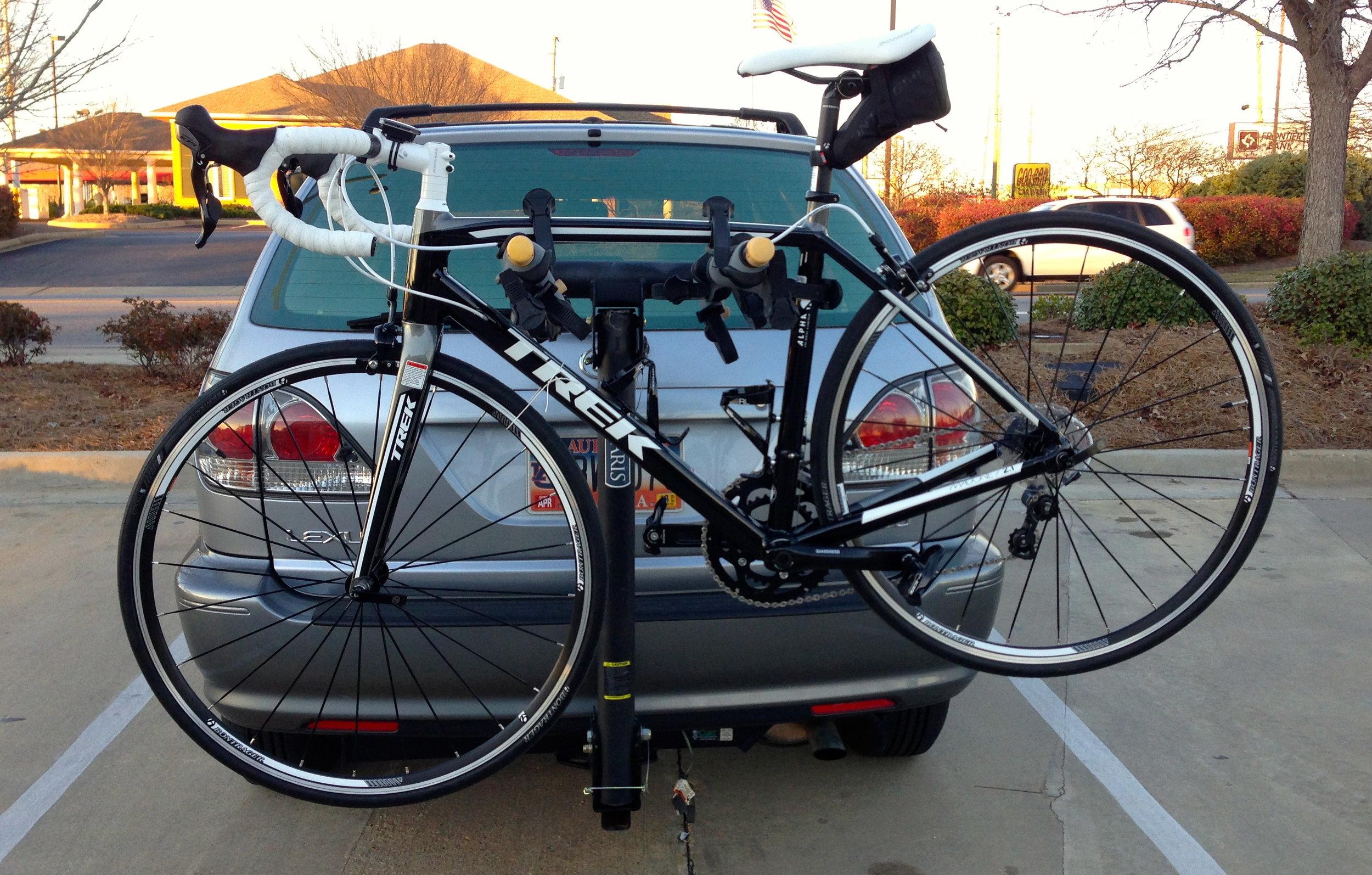 Trek Madone 2.1 on the Car Rack