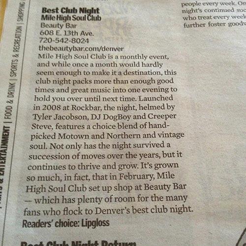 Mile High Soul Club - Denver's Best Club Night 2013