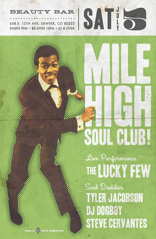 Mile High Soul Club July 2014 with The Lucky Few