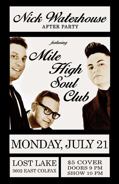 Nick Waterhouse After-Party with Mile High Soul Club