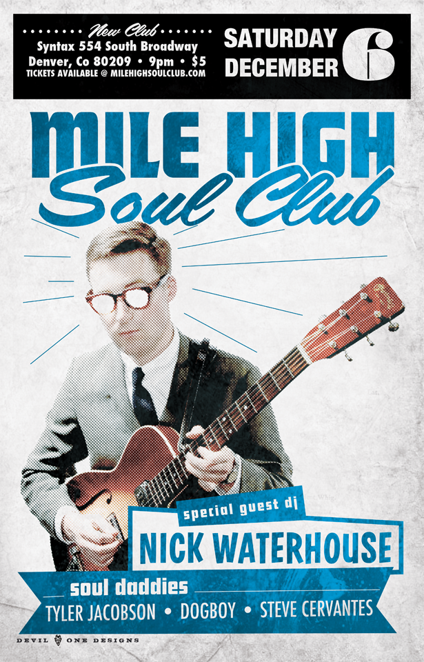 Sacred Seed present Mile High Soul Club December with guest DJ Nick Waterhouse