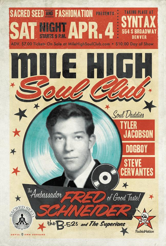 Mile High Soul Club April with guest DJ Fred Schneider