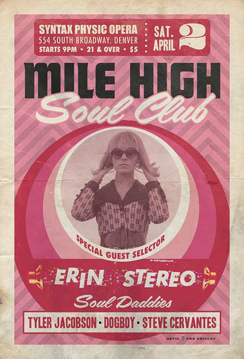 Mile High Soul Club April 2, 2016 w/ guest Erin Stereo
