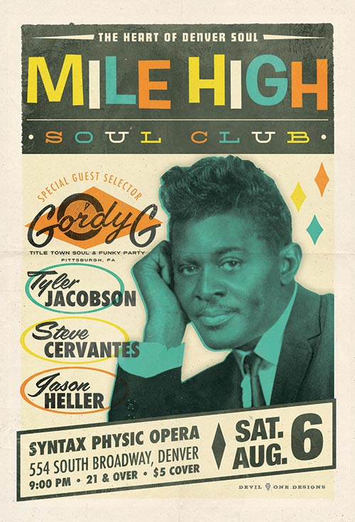 Mile High Soul Club - August 6, 2016 with guest DJ Gordy G of Title Town