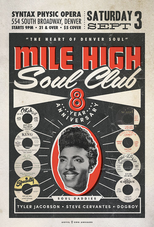 Mile High Soul Club 8th Anniversary Poster