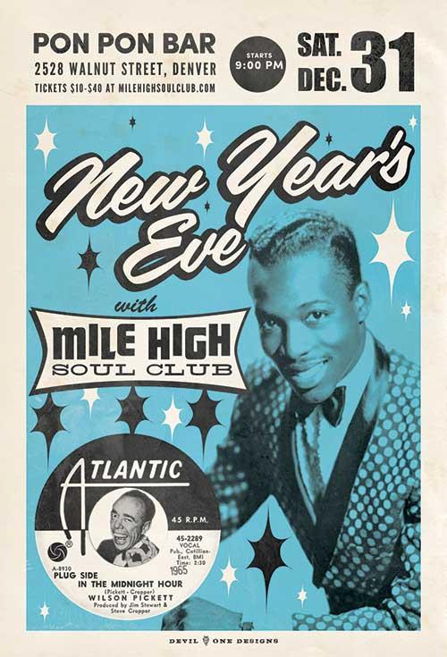 New Year's Eve 2016 - Denver - Mile High Soul Club at Pon Pon