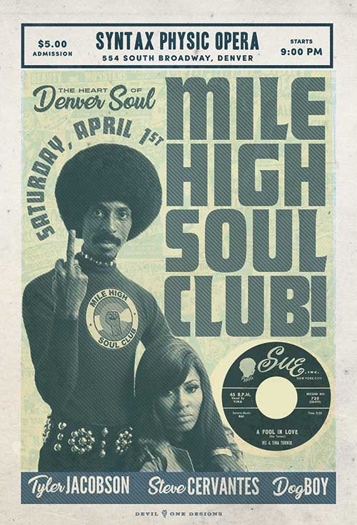 Mile High Soul Club - April 1, 2017 - Denver Colorado Soul and Funk Night